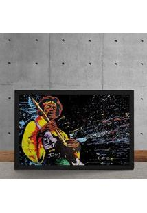 Quadro Decorativo Jimi Hendrix Aquarela 25X35