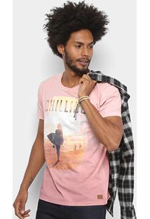 ec9aac650 Camiseta Colcci Estampada Surf Masculina - Masculino-Rosa