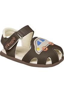 Sandália Papete Infantil Masculino Carrinho Mimopé - Masculino