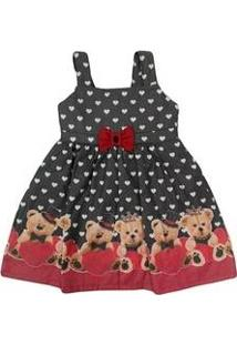 Vestido Infantil Verão Ursos Turma Da Malha - Miss Trm