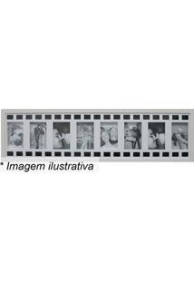 Painel Para 8 Fotos- Branco & Preto- 25X100X3Cm-Kapos