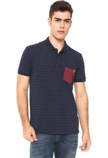 Camisa Polo Reserva Regular Fit Bolso Azul-Marinho 52a26429b2e83