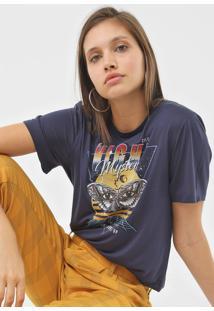 Camiseta Colcci Night Mystery Azul-Marinho - Azul Marinho - Feminino - Viscose - Dafiti
