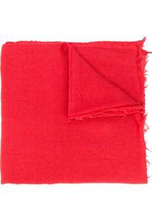 Rick Owens Cachecol 'Mega' - Vermelho