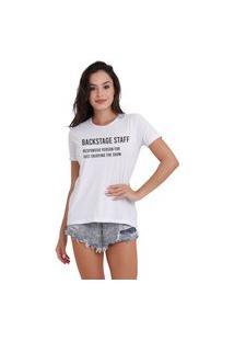 Camiseta Jay Jay Basica Backstage Branca Dtg
