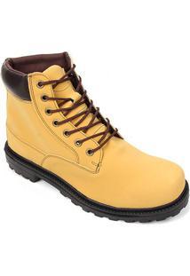 Bota Cano Médio Saxxon Adventure Masculina - Masculino-Amarelo