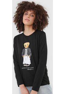 Camiseta Polo Ralph Lauren Bear Preta