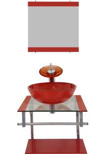 Gabinete Vidro Para Banheiro Polônia Vermelho Ferrari Ekasa