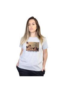 Camiseta Boutique Judith To Nem Ai Meu Anjo Cinza