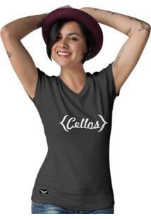 Camiseta Gola V Cellos Retro Premium Feminina - Feminino