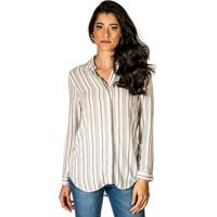 Camisa Listras Viscose feminina  0f5430f8860ea