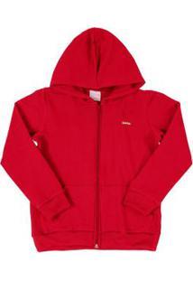 Jaqueta Infantil Em Molecotton Vermelho