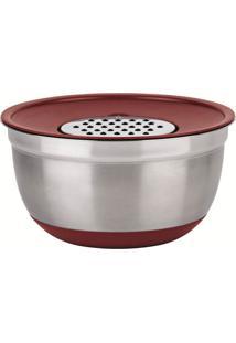 Conjunto German Bowl Inox 8289 Com Ralador 3Em1 Vermelho Euro Home