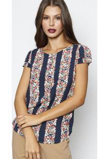 Blusa Com Babados- Azul Escuro   Vermelha- Vip Reservip Reserva e071cdc9c9f71