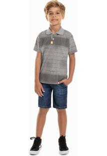 Camisa Quimby Infantil Cinza