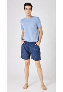 Bermuda Jeans Express Inacio - Masculino-Azul