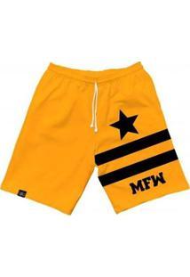 Bermuda Moletom Mfw Army Star Com Bolsos Masculina - Masculino