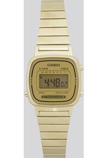 Relógio Digital Casio Feminino - La670Wga9Df Dourado - Único