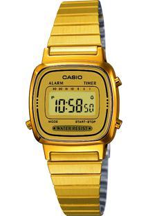 Relógio Digital Casio Unissex - La670Wga-9Df Dourado