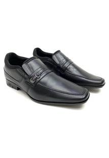 Sapato Social Calvest 360 Preto Masculino Couro
