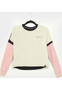 Camiseta Cropped Ecko Manga Longa Feminina - Feminino