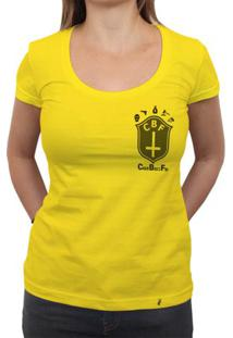 Cbf (Brasão Preto) - Camiseta Clássica Feminina