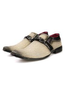 Sapato Social Tricê Neway Masculino Bege