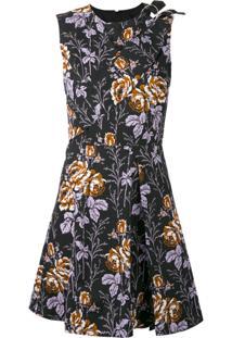 Victoria Beckham Vestido Flora - Preto