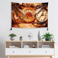 1bdfdaf73ca Tapeçaria De Parede Relógios Antigos