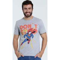 02b636cde Camiseta Masculina Super Homem Liga Da Justiça