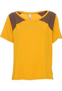 Camiseta Enna Recortes Amarela