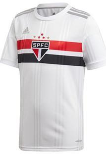 Camisa São Paulo Infantil I 20/21 S/N° Torcedor Adidas - Masculino-Branco+Vermelho