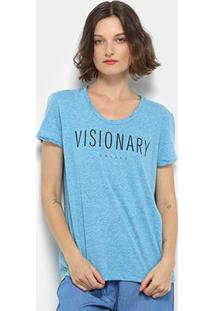 Camiseta Colcci Visionary Manga Curta Feminina - Feminino