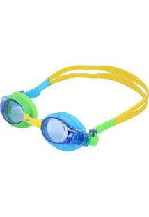 Óculos De Natação Speedo Quick Ii - Infantil - Azul/Verde