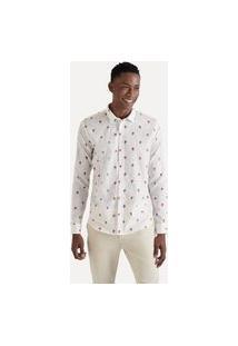 Camisa Ml Estampada Micro Animoji Reserva Branco