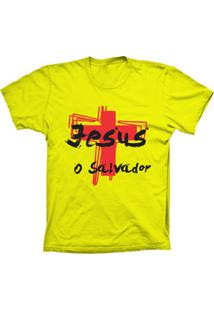 Camiseta Baby Look Lu Geek O Salvador Amarelo - Amarelo - Feminino - Dafiti
