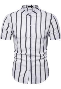Camisa Vintage Stripes - Branco Xg
