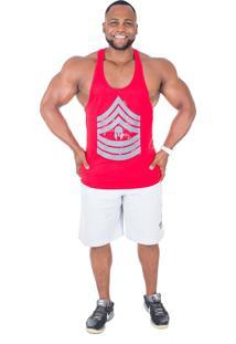 Regata Império Fitness Anatomic Military Vermelha