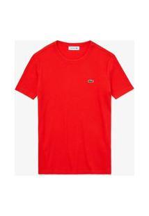Camiseta Lacoste Slim Fit Vermelho