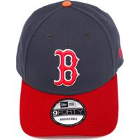 Boné New Era Snapback Boston Red Sox Preto Vermelho 68d4e9d5758