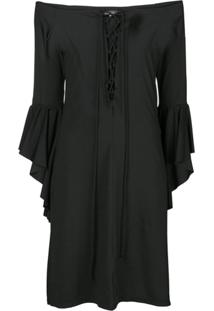 Fisico Vestido Com Amarração - Preto