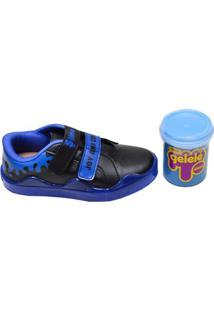 Tênis Infantil Menino Slime Kidy Azul E Preto