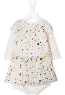 Stella Mccartney Kids Vestido Com Poás - Neutro