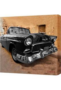 Quadro Impressão Digital Carro Preto 30X30Cm Uniart