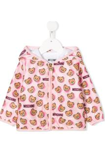 Moschino Kids Teddy Bear Print Jacket - Rosa