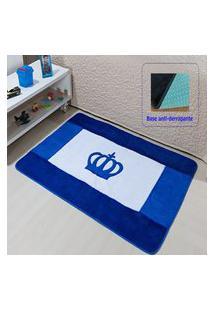 Passadeira Premium Coroa Real Azul Royal 1,20M X 0,74Cm