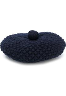 N.Peal Knitted Beret Hat - Azul
