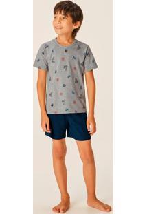 Pijama Cinza Esporte Menino