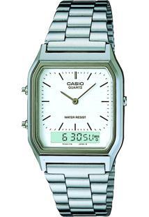 Relógio Analógico Casio Vintage Feminino - Aq230A7Dmqu Prateado