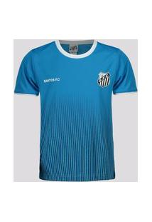 Camisa Santos Court Infantil Azul